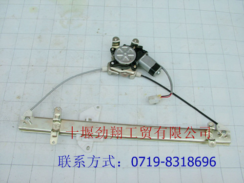 东风天龙,大力神左车门玻璃升降器(电动)6104010-c0101