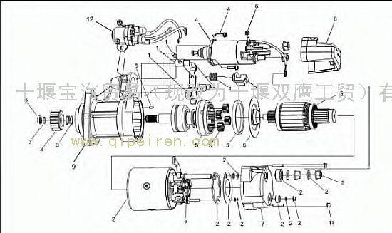 供应重庆康明斯发动机起动机8200447原厂 /配套8200447