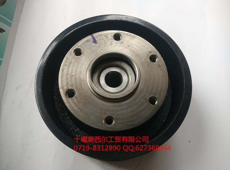 5010222001东风天龙汽车雷诺发动机风扇皮带轮总成/d5010222001