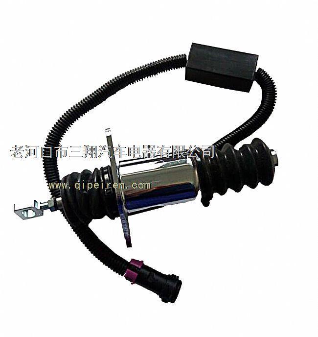 专业生产各种电子熄火控制器(熄火电磁阀 ,断油电磁阀) ,天龙重型车